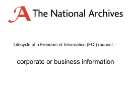 corporate information - The National Archives