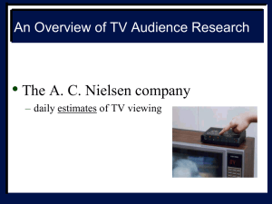 An Overview of TV Audience Research