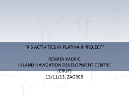 Ris activities in platina ii project renata kadric crup
