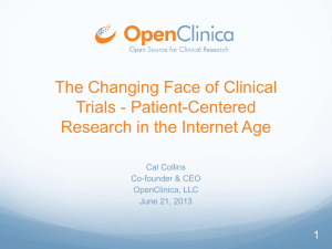 Patient-Centered Research in the Internet Age
