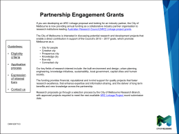 Partnership engagement grants - Melbourne