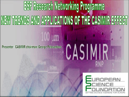 What is the Casimir effect - European Science Foundation