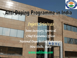 CEO - National Dope Testing Laboratory (NDTL)