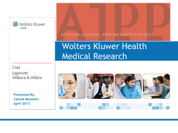 Wolters Kluwer Health Medical Research