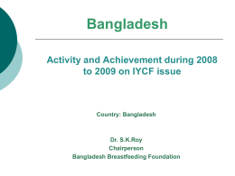 Bangladesh - the international baby food action network (ibfan) asia
