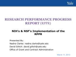 RPPR - Office of Research Administration