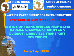 Status of Trans African Highways and transport