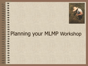 Planning an MLMP Training Workshop