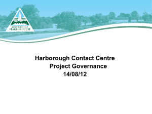 Project Governance - Charnwood Borough Council
