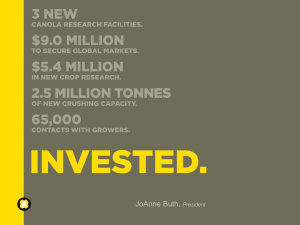 Invested - Canola Council of Canada