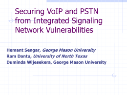 Securing VoIP and PSTN from Integrated Signaling