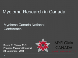Clinical Trials - Myeloma Canada