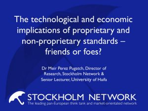 The technological and economic implications of proprietary and non