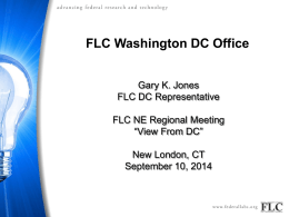 Presentation - FLC Northeast Region