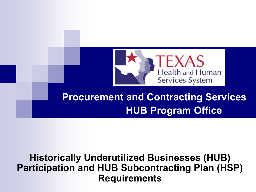 Hub subcontracting plan requirements training 1betcityfo Choice Image
