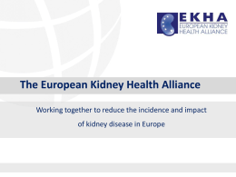 importance of kidney health - ERA-EDTA