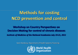 Stenberg- Methods for Costing NCD Prevention and Control