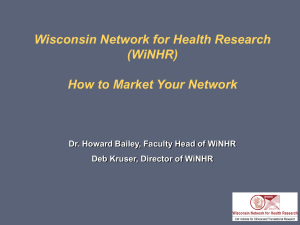 Wisconsin Network for Health Research (WiNHR)