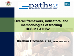 Overall framework, indicators, and methodologies