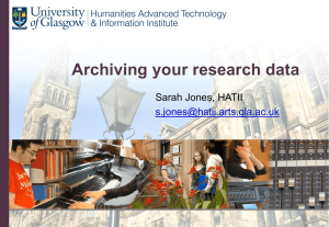 Archiving your research data