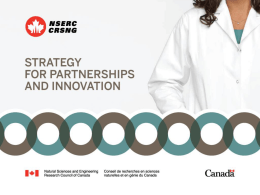 NSERC Engage Program (February 7, 2012)