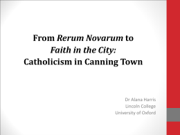 Catholicism in Canning Town