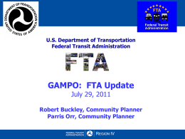 Robert Buckley and Parris Orr – FTA Update