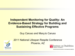 Independent Monitoring for Quality: An Evidence