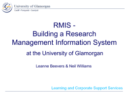 RMIS: Building a Research Management Information System