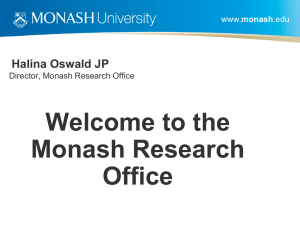 The Monash Research Office - Monash University Administration