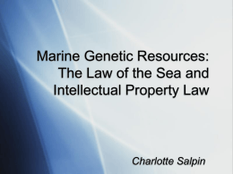 The Law of the Sea and Intellectual Property Law