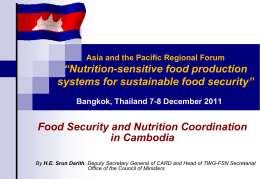 Food Security Assessment in Cambodia