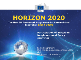 Introduction to Horizon 2020