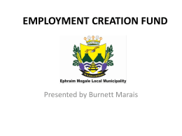 employment creation fund - Ephraim Mogale Local Municipality