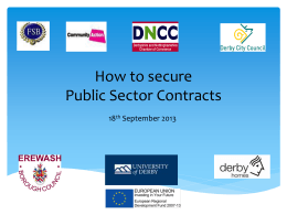 How to secure public Sector Contracts