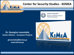 CENTER FOR SECURITY STUDIES