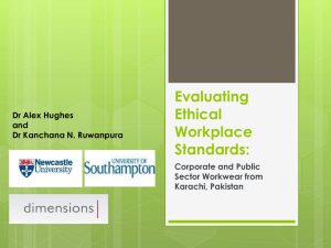 Evaluating Workplace Standards in Pakistan