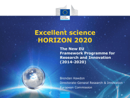 Excellent science HORIZON 2020