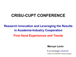 8) Research Innovation and Leveraging the - crisu