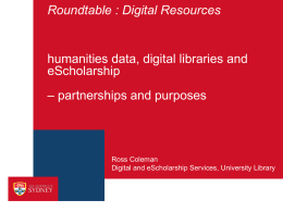 digital humanities usyd - The Sydney eScholarship Repository