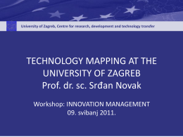 Technology mapping at University of Zagreb