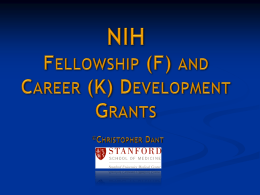 NIH Fellowships and Career Development grants Powerpoint