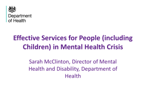 WSP2 Effective services for people in mental health crisis