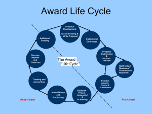 Pre-Award Basics - Office of Research Administration – Department