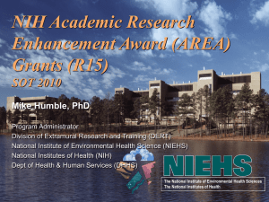 Academic Research Enhancement Awards (AREA)