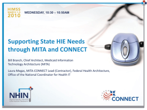 Supporting State HIE Needs through MITA and CONNECT