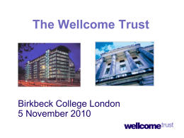 Wellcome Trust - Birkbeck College