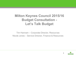 Budget Consultation Roadshow presentation 2015/2016