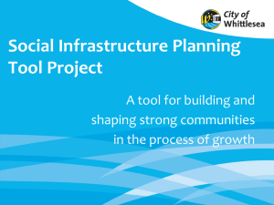 Social Infrastructure Planning Tool Project