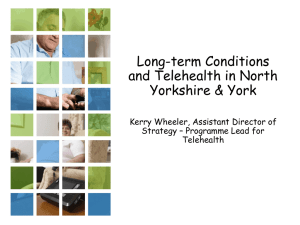 Long Term Conditions and Telehealth in North Yorkshire and York